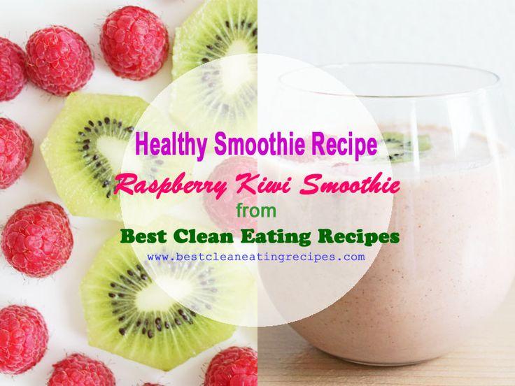 Healthy dessert recipe: raspberry kiwi smoothie