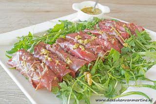 De keuken van Martine: Rolletjes van runderrookvlees en geitenkaas