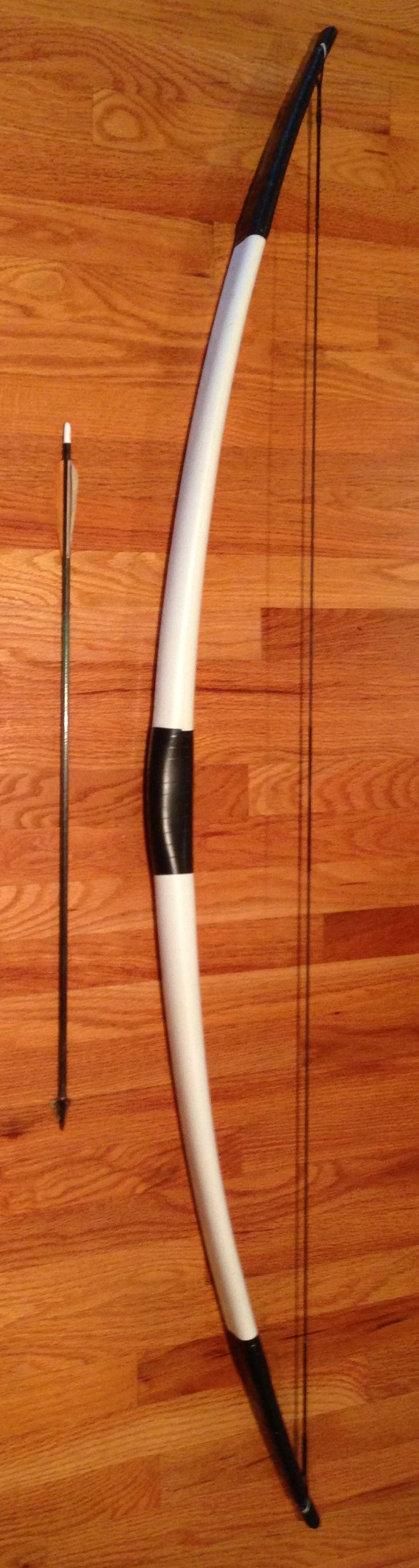 My complete 80 Pound PVC Long Bow by WindKEW! -With creative credit to Nick and his YouTube channel The Backyard Bowyer