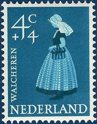 Netherland Stamp 1958 - P8 Buttons & Fabrics: Traditional Costumes