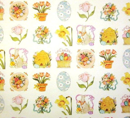 84 best wrapping paper easter joy images on pinterest wrapping vintage wrapping paper spring means easter gift by tillahomestead 600 negle