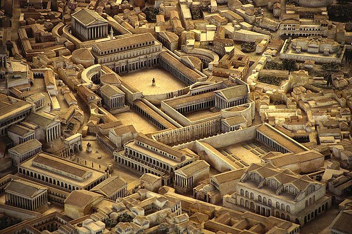Fori imperiali, tra 46 a.C. e 113 d.C. Serie di piazze monumentali nel cuore della città di Roma dagli imperatori.