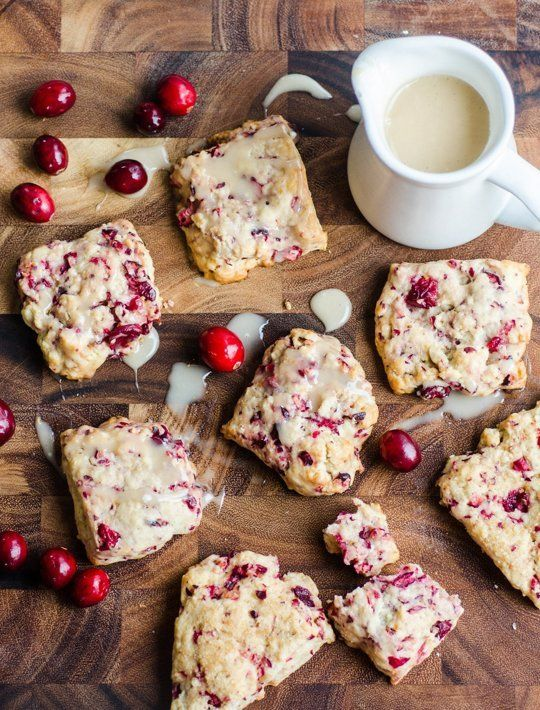 Recipe: Fresh Cranberry Scones — Breakfast Recipes from The Kitchn--I forget the rum glaze--don't do rum and the scones are rich enough as is...Yum!