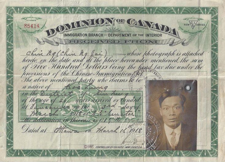 Head Tax - Canadian Encyclopedia