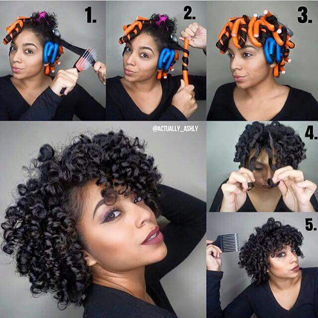 Use Flexi Rods Natural Hair