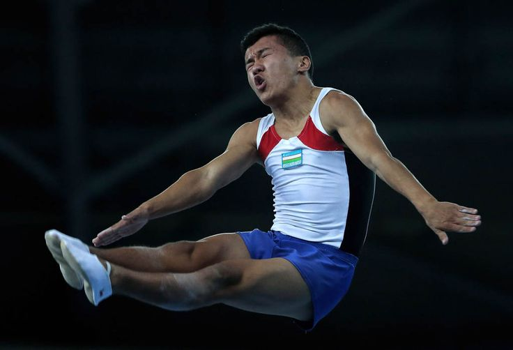 Fatkhelyanov Rafael of Kazakhstan competes in the Gymnastics Trampoline Men's Final in day seven of the 2014 Asian Games at Namdong Gymnasium on September 26, 2014 in Incheon, South Korea. (Photo by Lintao Zhang/Getty Images)