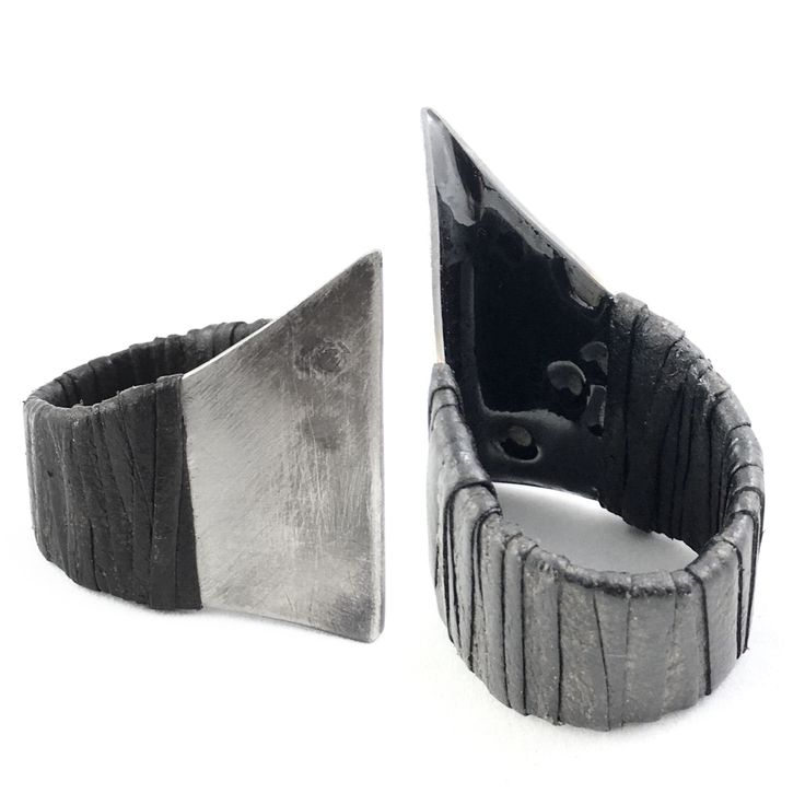 WILDHORN titanium rings with leather wrapping available in our online store wildhornj.com