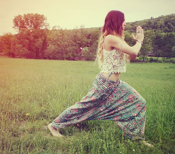 Handmade Harem Pants Fabric CHOICE Hippie Pants by Cloud9Jewels, $30.00