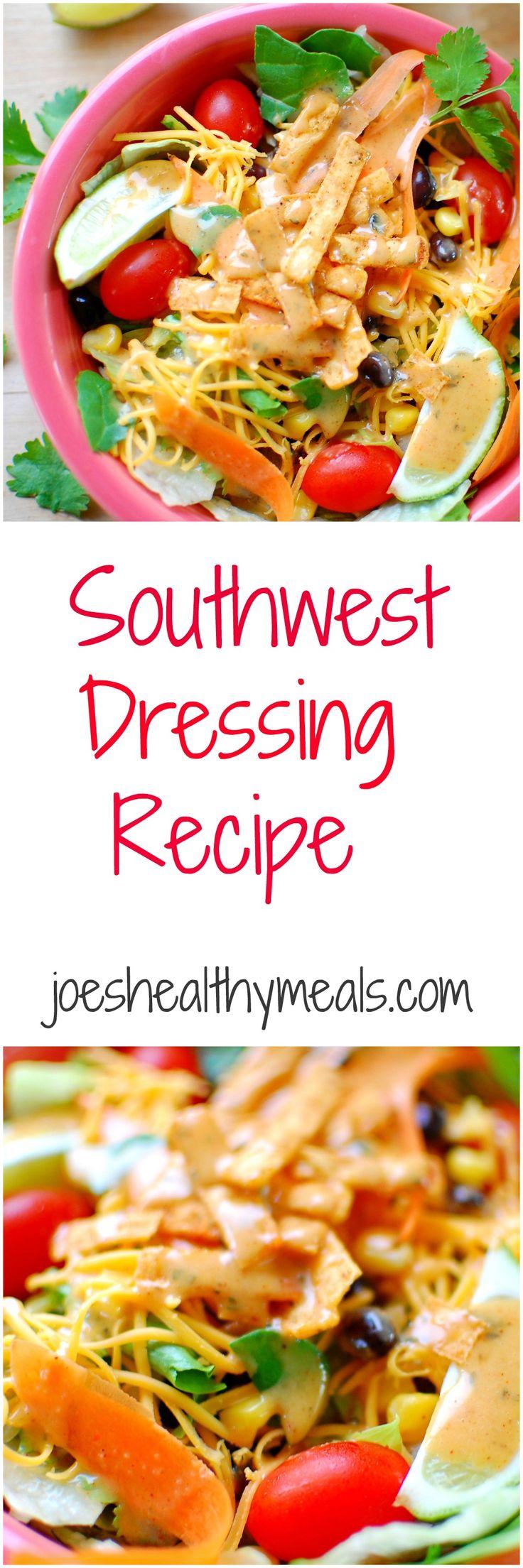 southwest dressing recipe. Southwest dressing recipe just like Newman's Own from McDonald's! This recipe tastes sooo good! | joeshealthymeals.com