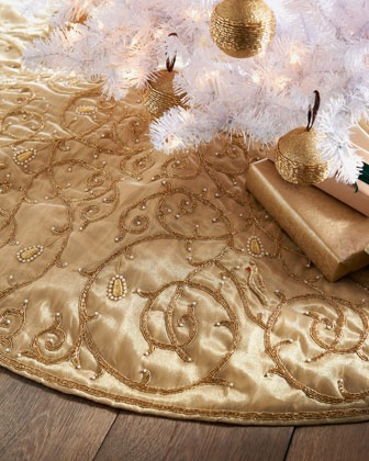 """Partridge & Vine"" Christmas Tree Skirt - Neiman Marcus"