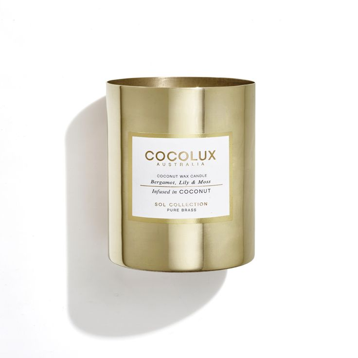 Cocolux - Brass Sol Candle – Bergamot, Lily & Moss 350G