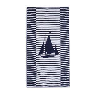 Debenhams Navy striped boat beach towel- at Debenhams Mobile