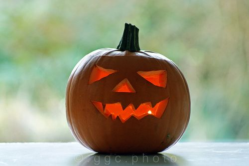 mr scary pumpkin in the morning...