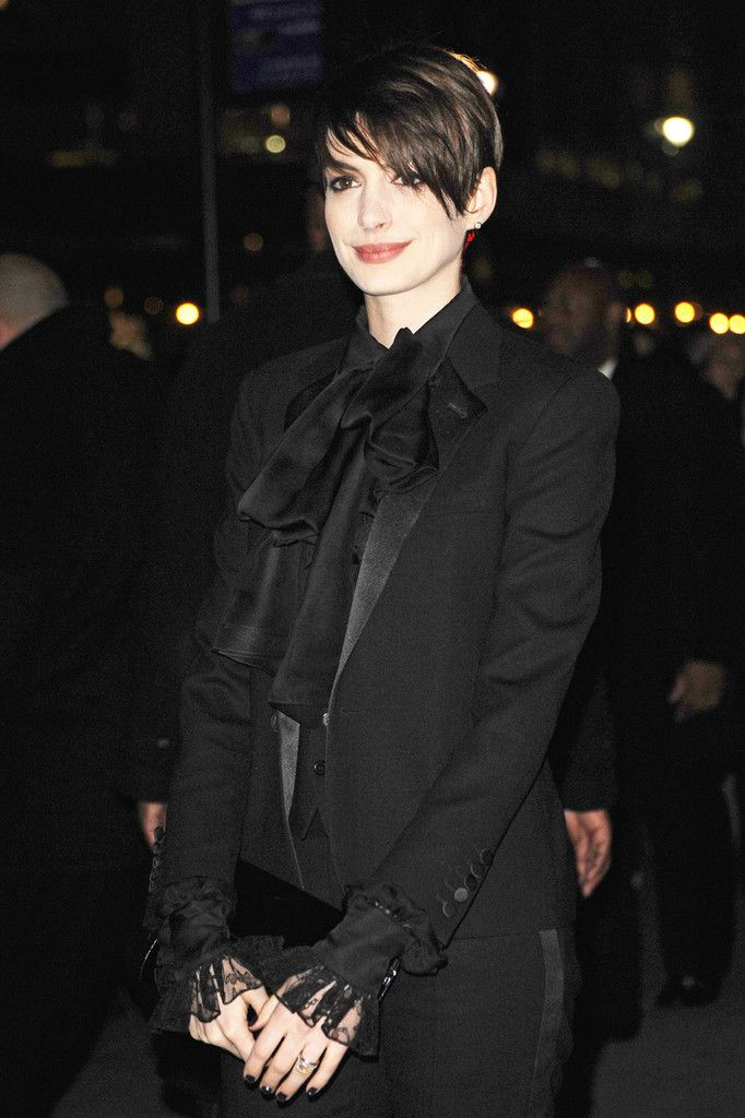 TheyCryWolfe - suicideblonde: Anne Hathaway in Saint Laurent at...