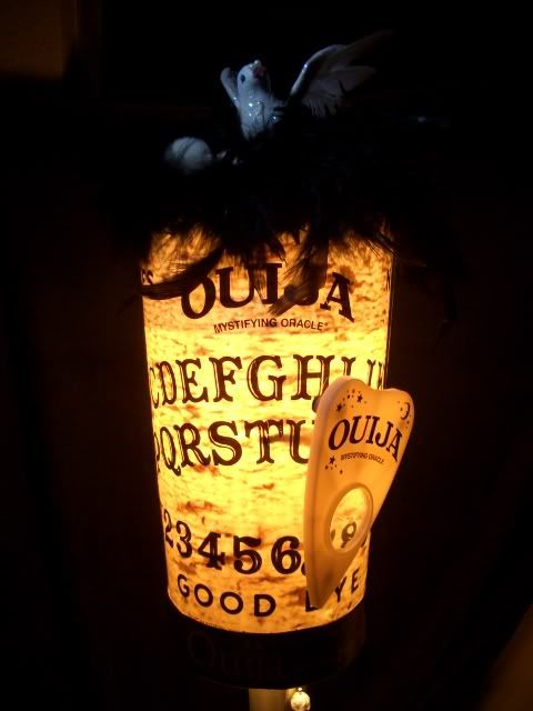 It foretells the FUTURE --> The OUIJA BOARD LAMP - CRAFTSTER CRAFT CHALLENGES