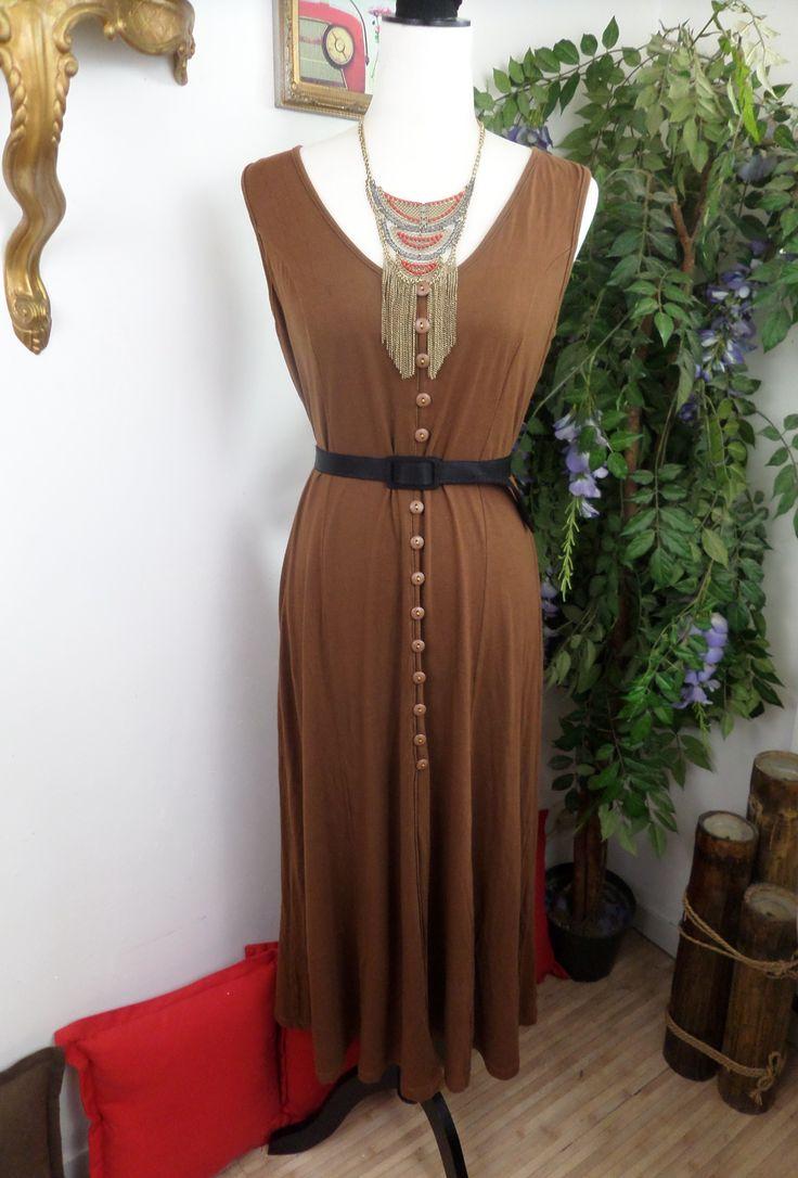 Robe Longue Marron Manoukian 90's