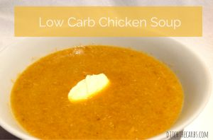 low carb chicken soup | ditchthecarbs.com
