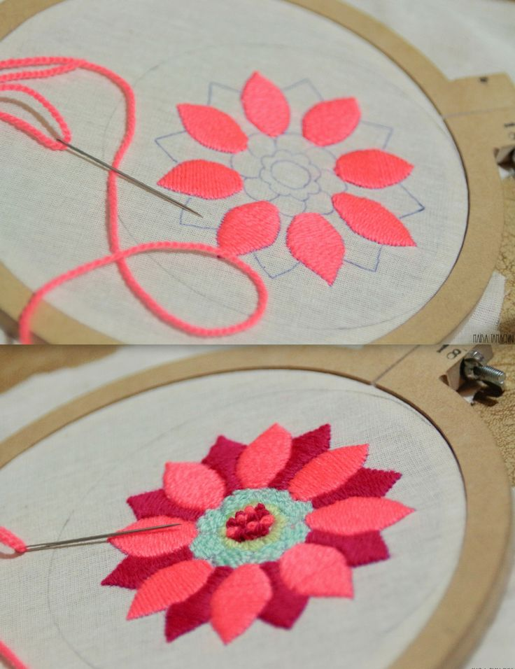"Mandala bordado a mano  #Handmade #Bordado  Facebook: ""Lennon bordado artesanal"""