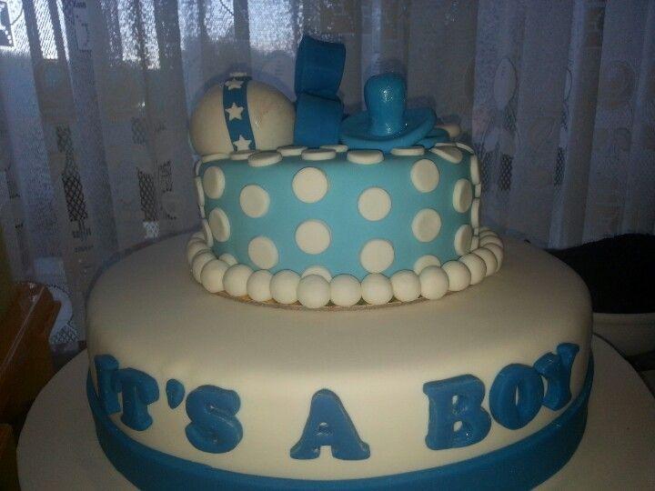 Baby shower blue, it's a boy!! Www.facebook.com/chinitadesserts