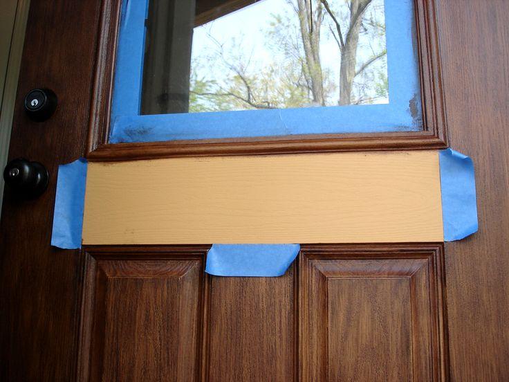 Gel Stain A Fiberglass Door Diy For The Home