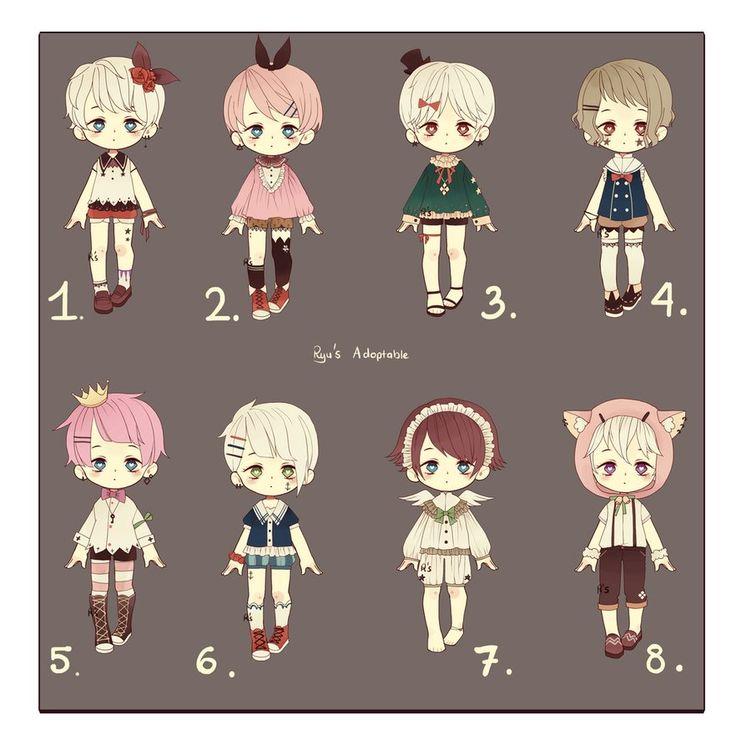 OPEN Adoptable set 10 by RyuRyuki on DeviantArt