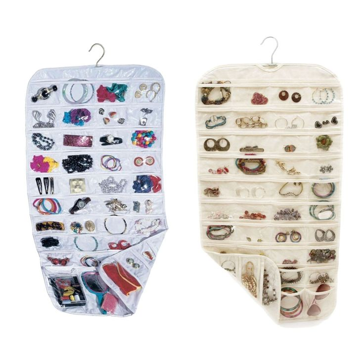 80 Pockets Real Set Organizadores Organizador Box Hanging Jewelry Organizer Display Earring Rings Bracelets Storage Bags Hanger #clothing,#shoes,#jewelry,#women,#men,#hats,#watches,#belts,#fashion,#style