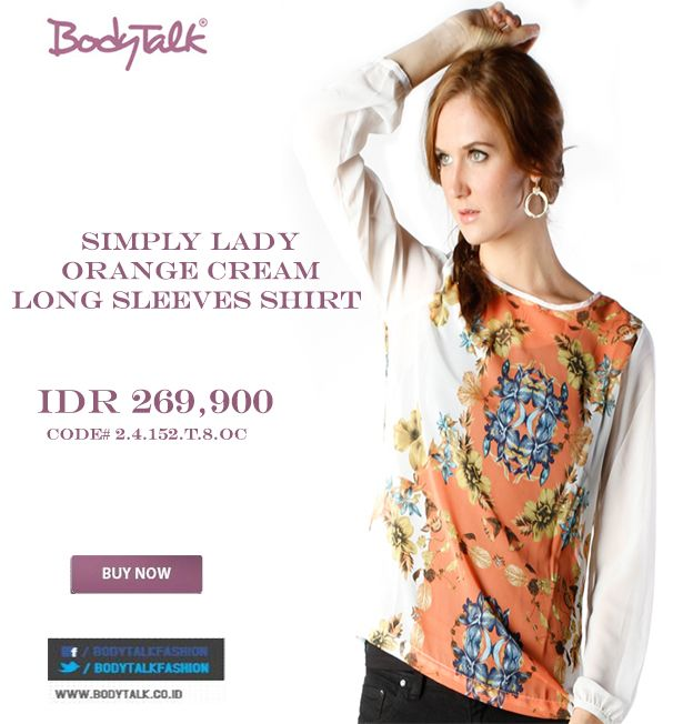 Simply Lady with this Simply Long Sleeves Shirt is Match IDR 269,900 >> http://ow.ly/vxD3F