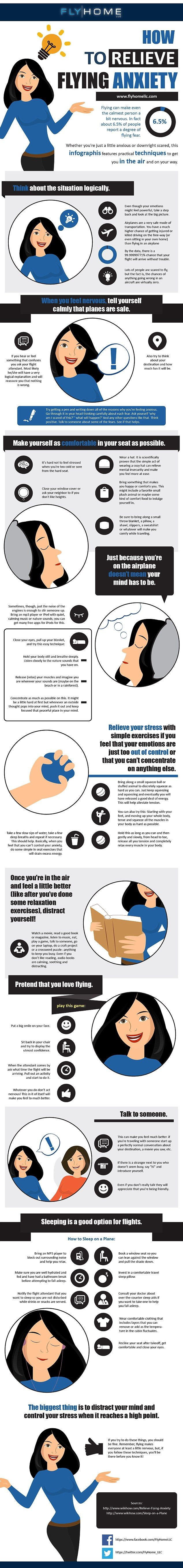 How to Get Over Your Flying Anxiety [Infographic]
