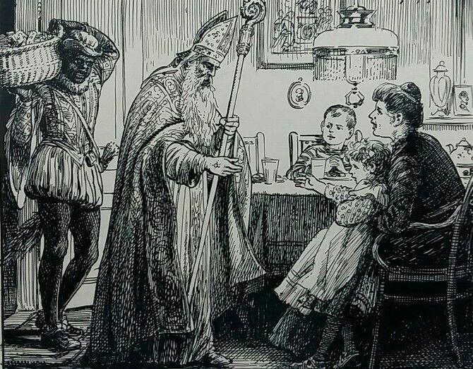 Sinterklaas en Piet 1912