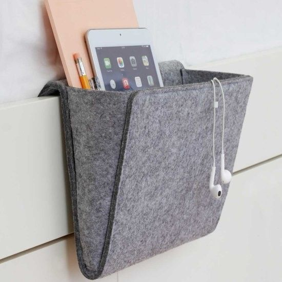 Bedside Pocket - make one out of felted fabric