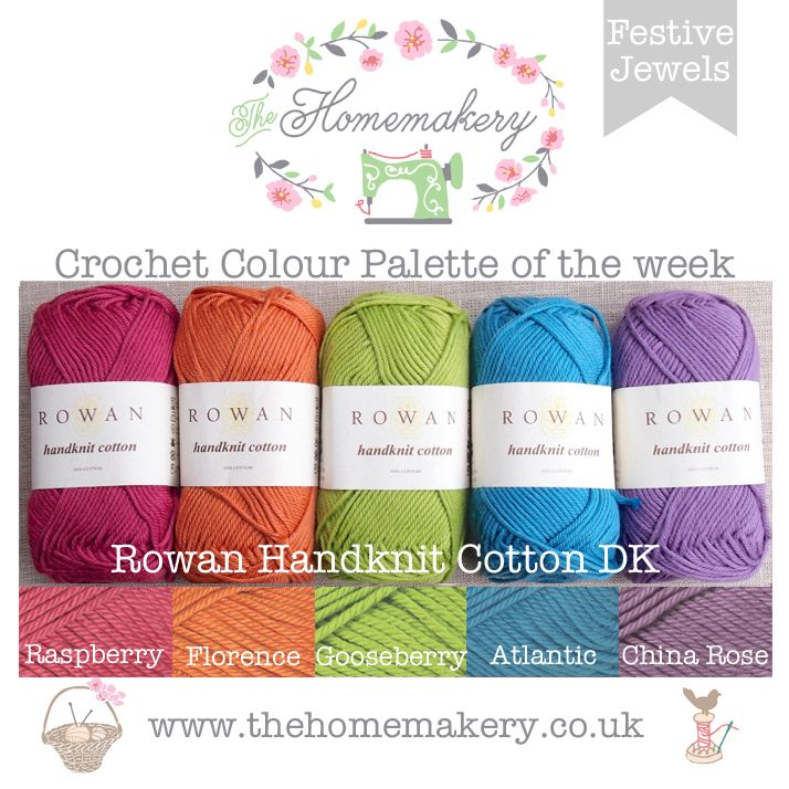 Crochet Colour Palette - Festive Jewels - Rowan Handknit Cotton DK - The Homemakery