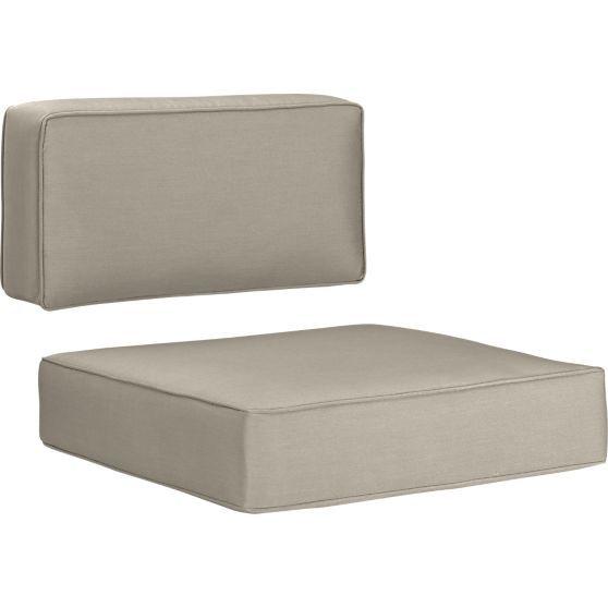 Ventura Sunbrella® Turkish Tile Modular/Lounge Chair Cushions in Outdoor Furniture Cushions | Crate and Barrel