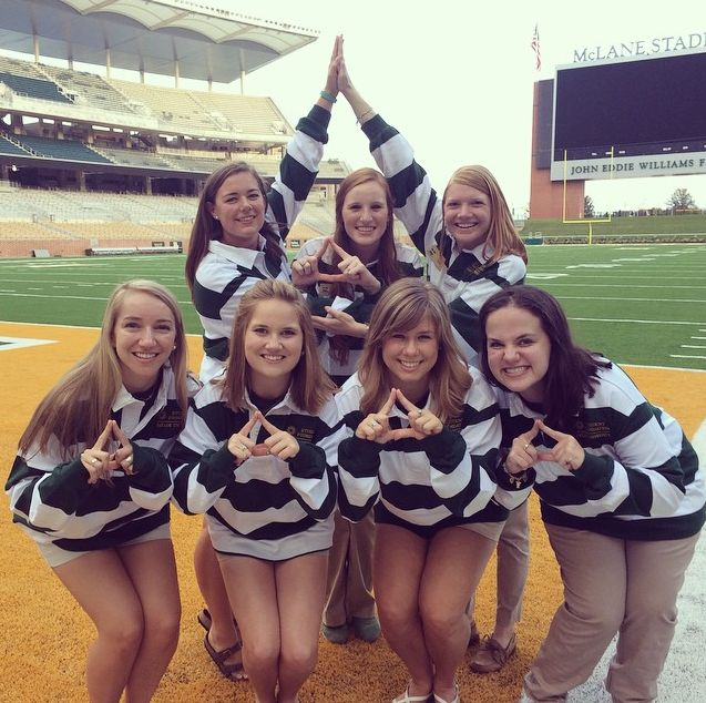 Tri Delta at Baylor have spirit!
