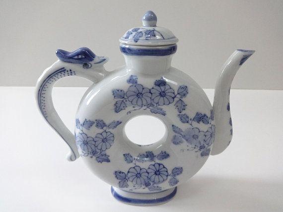 Oriental Tea Pot Blue And White Teapot Oriental Decor Etsy Asian Teapots Oriental Decor Tea Pots