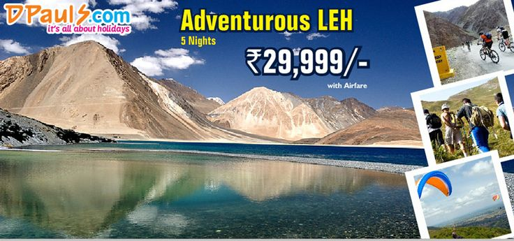 #Adventure at every step! Leaving behind all the stress and strings, find a new you in the land of monks and monasteries, stunning landscapes, ethereal natural beauty and unlimited adventure. Treat yourself with a 5 Nights #Leh Package at Rs. 29,999/- p.p. call us at 011-66211111.