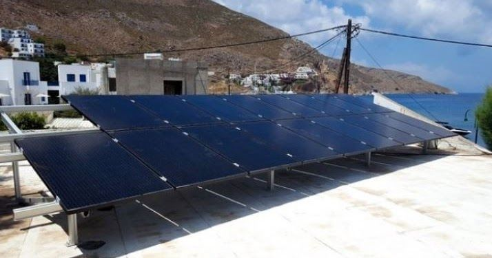 Greece The First Solar Power Station For Electric Vehicles In Tilos Solar Solar Power Station Solar Power