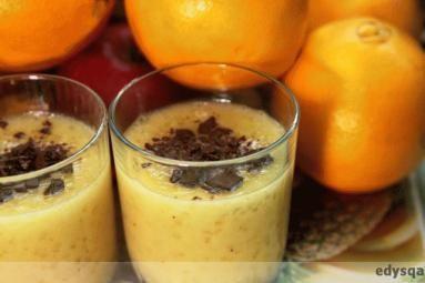 Zdjęcie: Pomarańczowo - bananowy deser z  tapioki