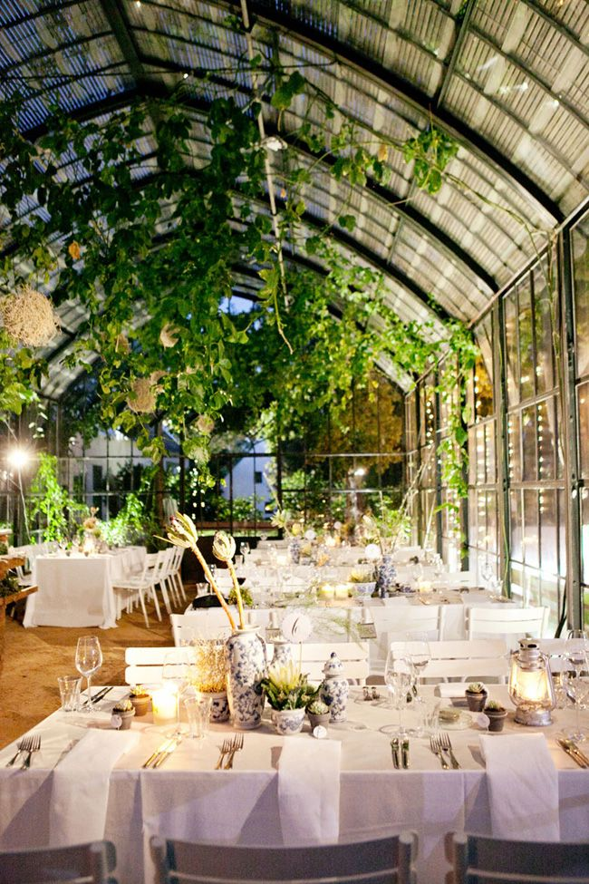 Top 10 Wedding Trends for 2016: Greenhouse Weddings | SouthBound Bride | http://www.southboundbride.com/wedding-trends-for-2016 | Image credit: Moira West