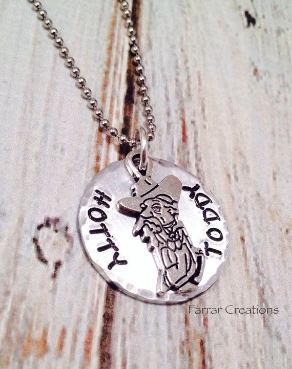 Hotty Toddy Hand Stamped Necklace - Ole Miss, University of MIssissippi, Graduation