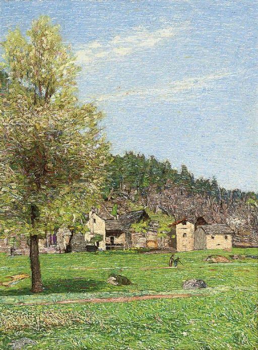 A village next to the Vigezzo valley, Ossola, Italy, Carlo Fornara. Italian (1871 - 1968)