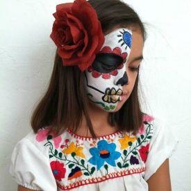 Sugar Skull Makeup for Kids   misc holiday ideas   Pinterest