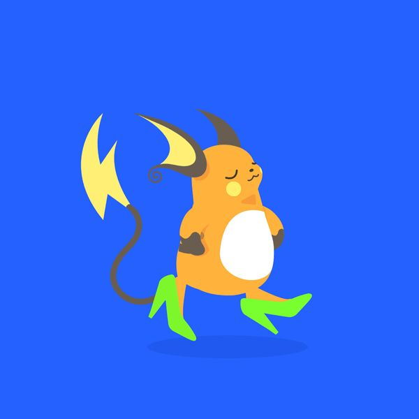Raichu gif animation pokemon