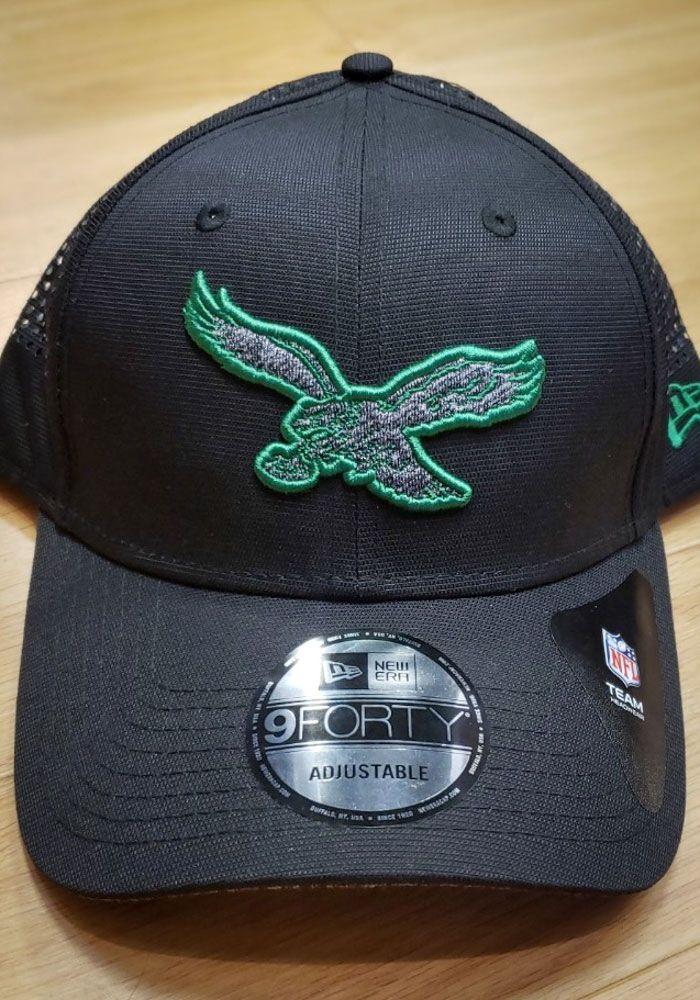 39fb49746df95e New Era Philadelphia Eagles Mens Black Shadow Perf 9FORTY Adjustable Hat