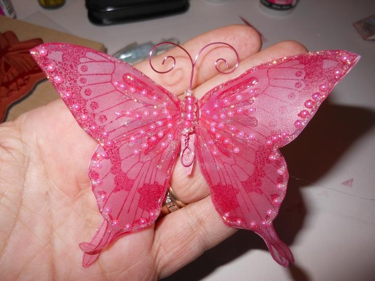 Handmade Vellum Butterfly