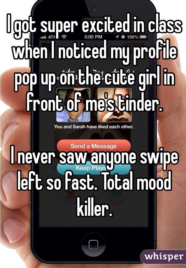 Whisper App. Confessions from Tinder Users.