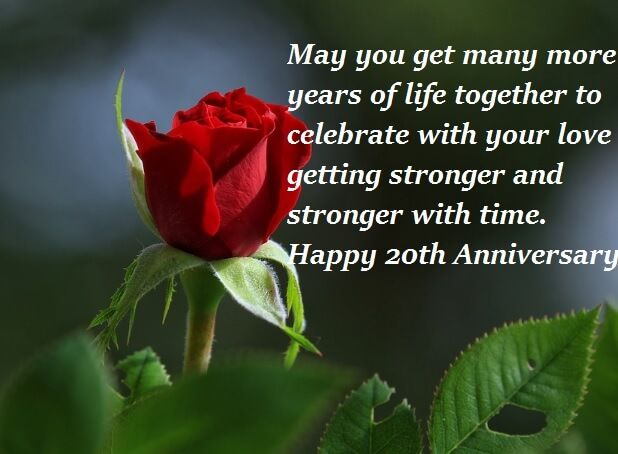 Happy 20th Wedding Anniversary Wishes Quotes Happy Marriage Anniversary Quotes Happy Marriage Anniversary Anniversary Wishes Quotes