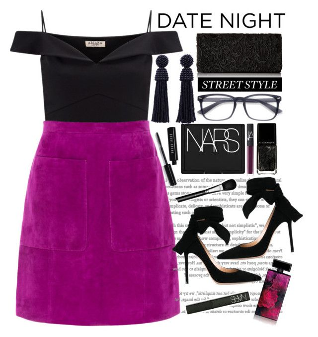 """Date Night"" by seannna-hale ❤ liked on Polyvore featuring Lipsy, L.K.Bennett, Gianvito Rossi, Illamasqua, NARS Cosmetics, Bobbi Brown Cosmetics, MAC Cosmetics and Elizabeth Arden"