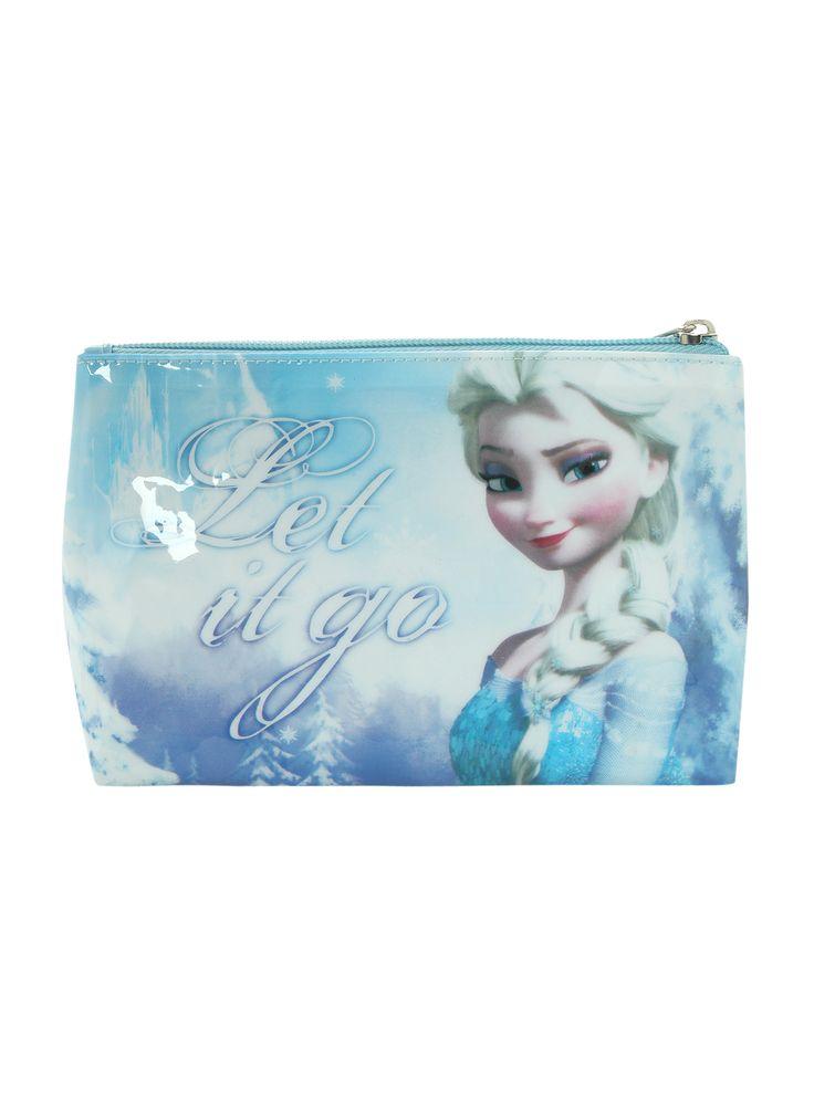 Disney Frozen Elsa Let It Go Cosmetic Bag   Hot Topic