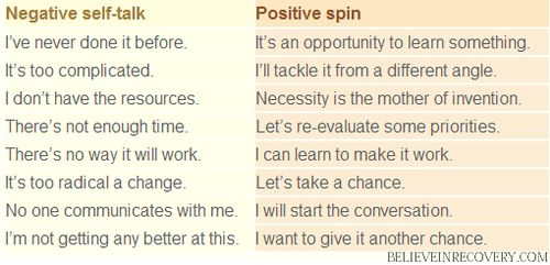 how to think positive instead of negative