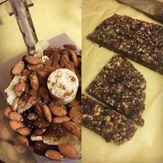 Love Larabars? You can make them yourself at home, and they're easy! I got two Homemade Larabars flavors here: Gingerbread Spice and Mocha Chip!